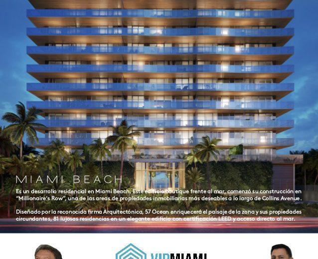 57 Ocean-Apartamentos a la venta en Miami Beach area de Millionaire's Row