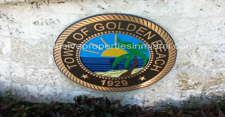 Golden Beach, exclusiva y privada ciudad frente al mar y el intracostal en Miami, FL