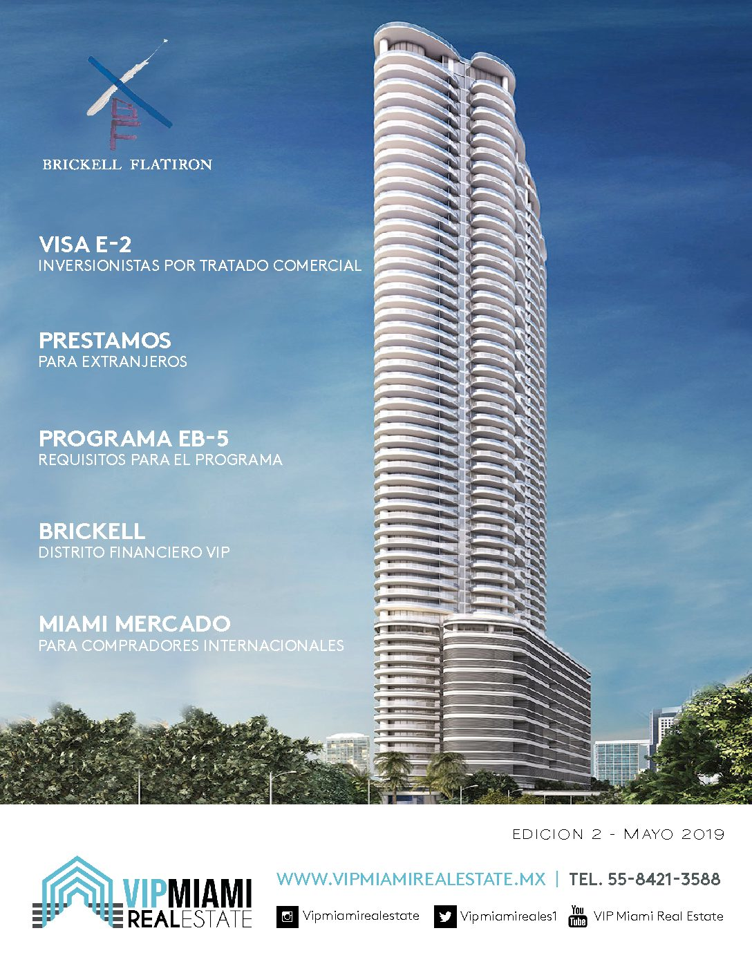 Revista digital Mayo 2019-VIP Miami Real Estate-Informacion sobre inversiones inmobiliarias en Miami, Florida.