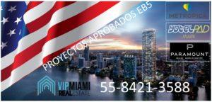 Visa inversionista EB5-Venta de apartamentos que califican para la Visa EB5 en Miami y Sunrise. Yotel Pad, Paramount Miami World Center y Metropica.