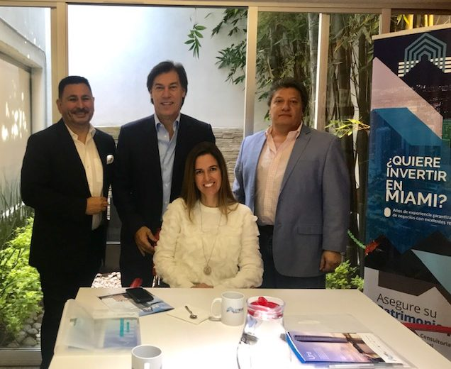 Visita de Edgardo de Fortuna a nuestra oficina VIP Miami Real Estate en Polanco.