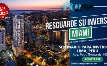 Reuniones para inversores inmobiliarios en Lima Peru-VIP Miami Real Estate.