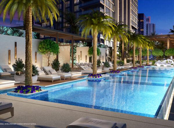 Piscina de tranquilidad-Legacy Condominiums-en Venta-VIP Miami Real Estate-