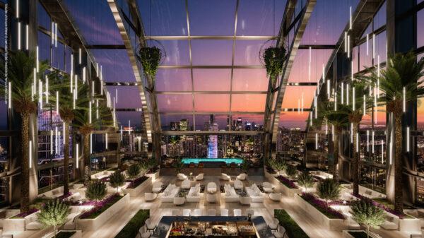 Skylounge de noche-Legacy Apartamentos en venta-VIP Miami Real Estate
