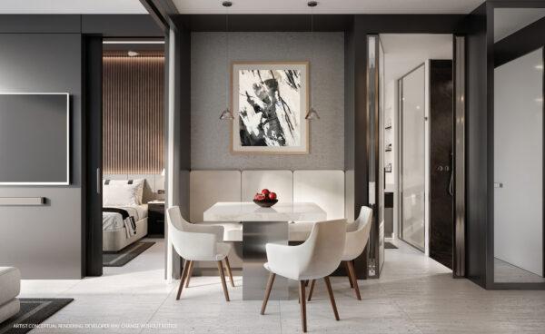 VIP Miami Real Estate-Legacy condos-Comedor-Apartamentos a estrenar-sin restricciones de alquiler
