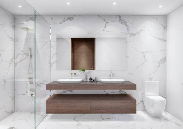 Venta de apartamentos de lujo-Baño-Ambienta Bay Harbor-VIP Miami Real Estate