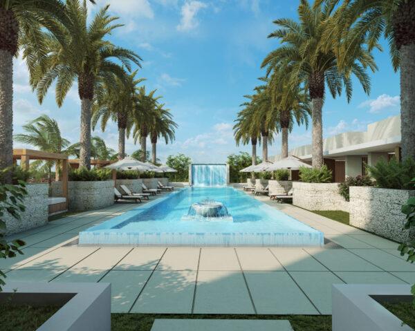 Villa Valencia-Comprar apartamentos de lujo-Preconstruccion-Coral Gables-VIP Miami Real Estate-Piscina