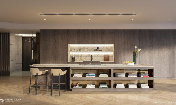 Venta de Residencias Waldorf Astoria-VIP Miami Real Estate-Area de Cocina