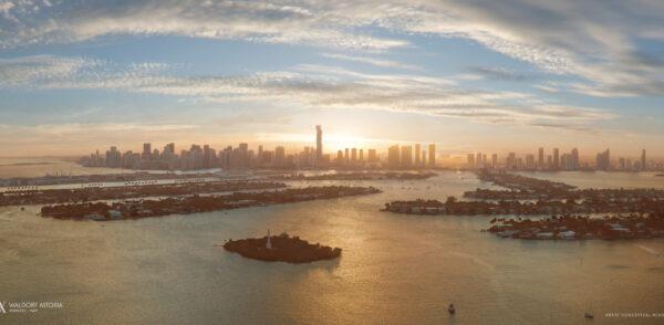 Venta de departamentos de lujo-Waldorf Astoria-VIP Miami Real Estate-Atardecer-Jorge J Gomez